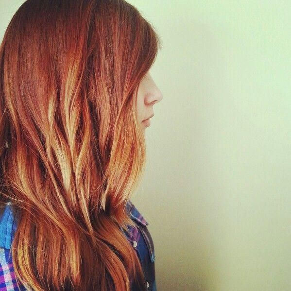 Red Ombre Highlights Hairstyles And Beauty Tips Gotta Love That