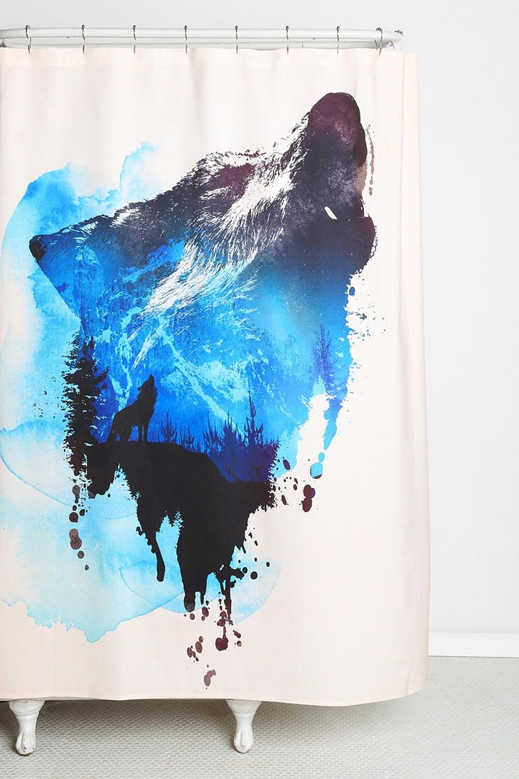 Robert Farkas For Deny Alone As A Wolf Shower Curtain Wolf Home