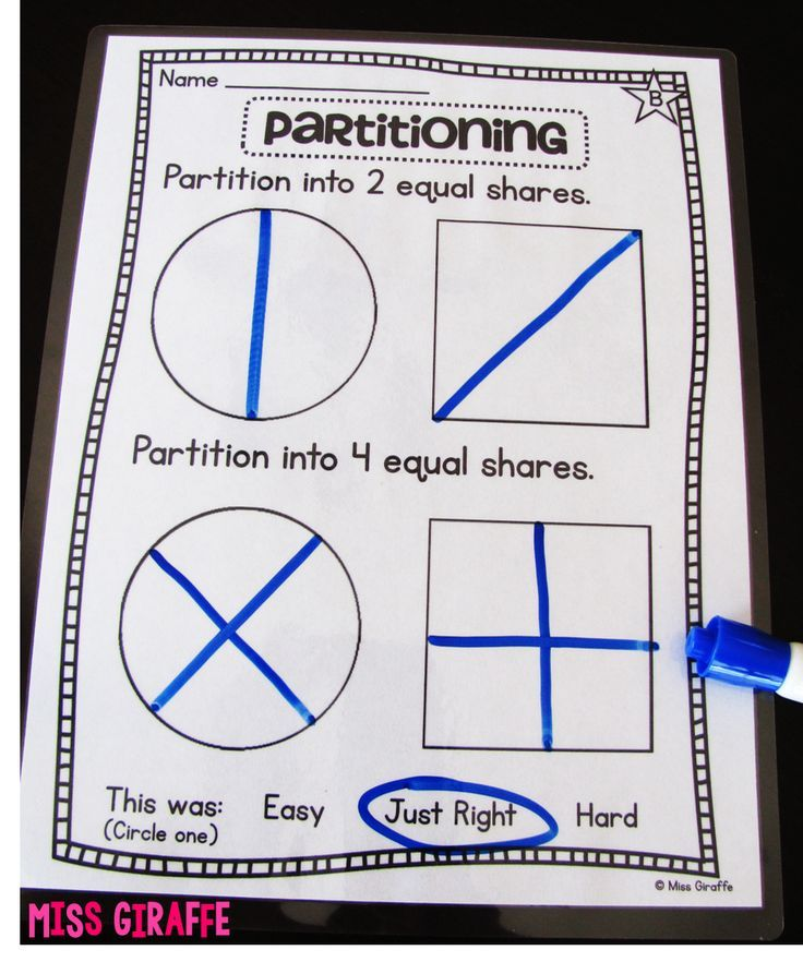Fractions in First Grade Fractions, 2nd grade math