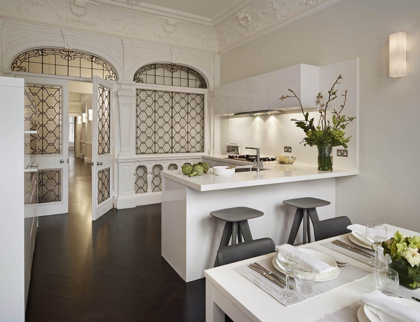Modern White Kitchen In Knightsbridge, London. Elan Kitchens 55 New Kingu0027s  Road, London, SW6 4SE. Www.elankitchens.co.uk
