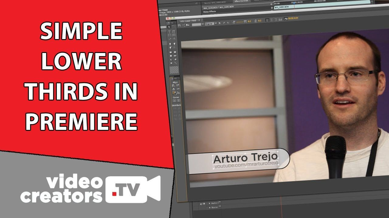 How To Make a Simple LowerThird in Premiere Pro VISIT