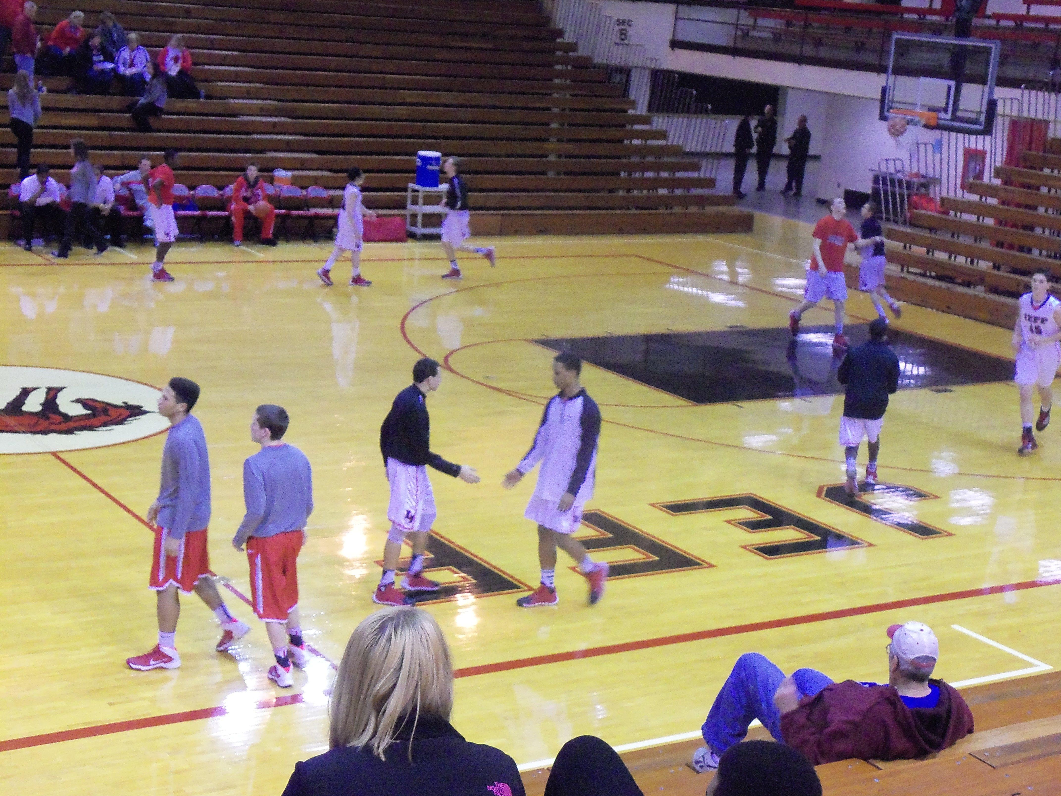 Jeff Broncho JV team warming up