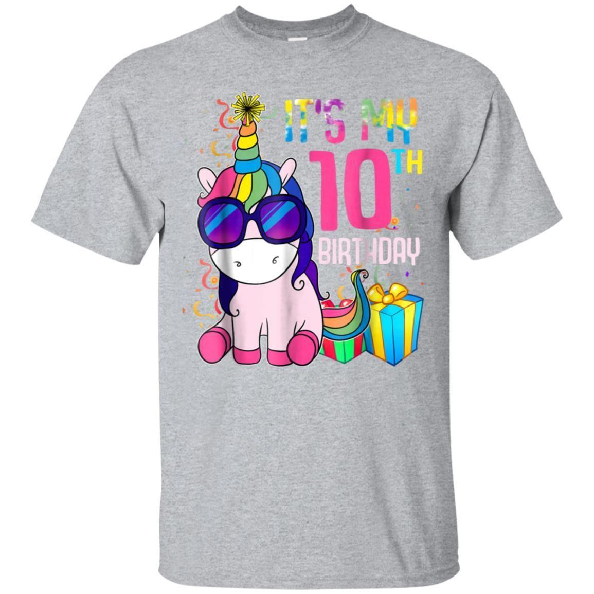Awesome 10 Years Old 10th Birthday Unicorn Shirt Girl