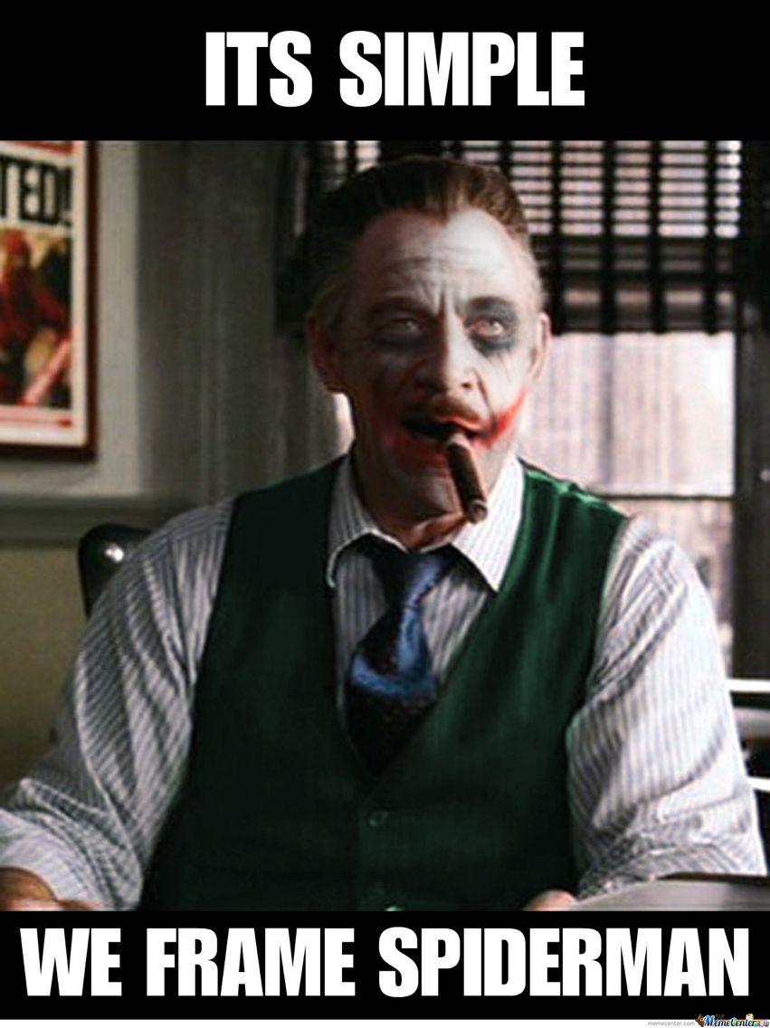 j. jonah jameson was the joker? sounds like an interesting tie in