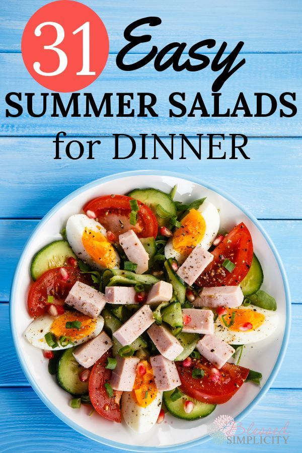 Easy Summer Salads Menu Plan images