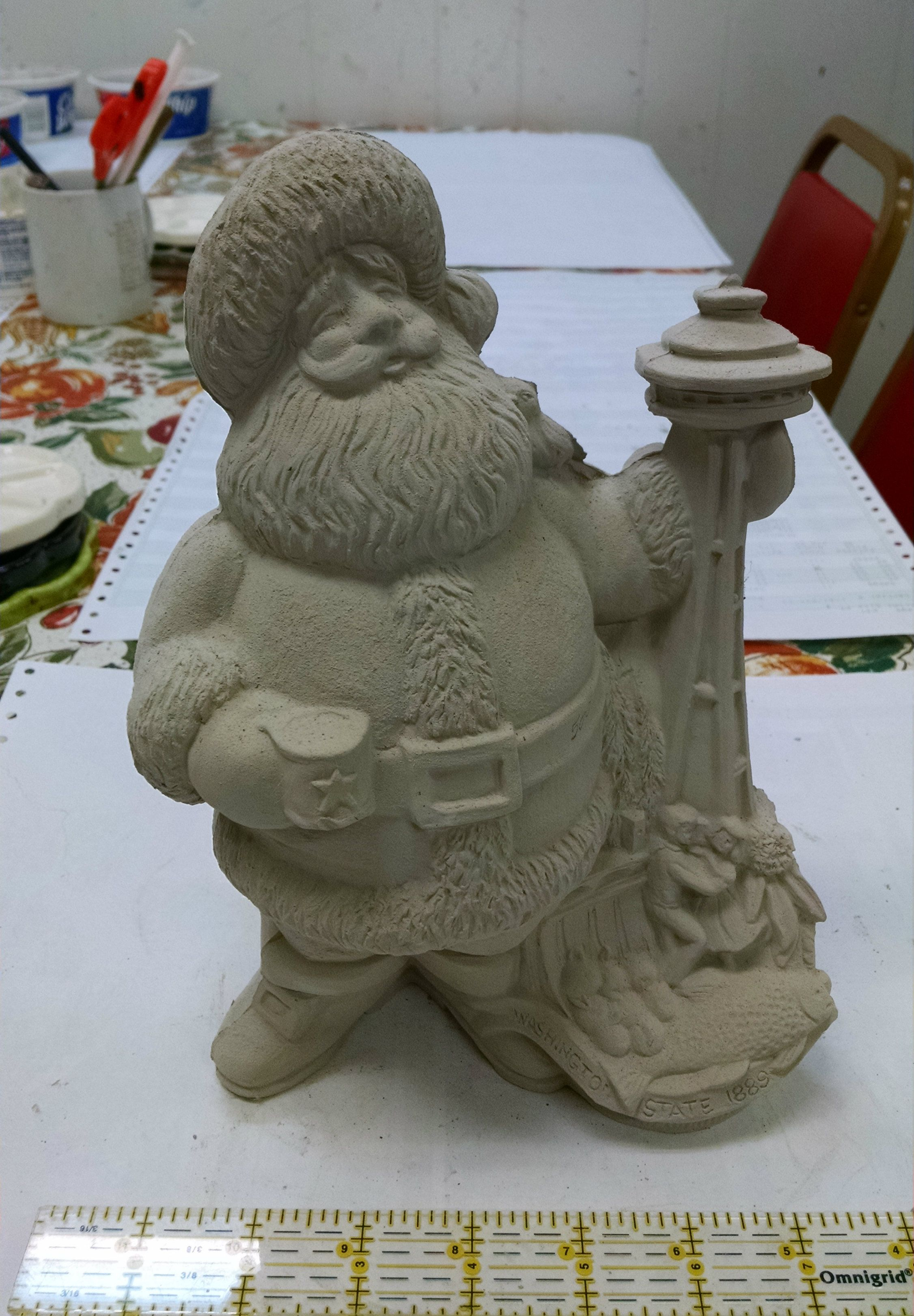 Washington Themed State Santa Claus Ready To Paint Ceramics Santa Crafts Christmas Decor Diy