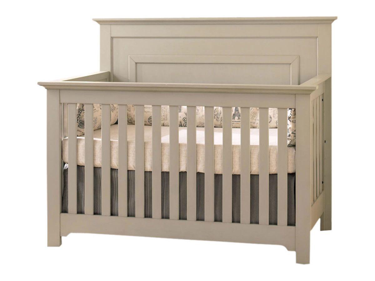 Chesapeake Full Panel Crib In Light Grey By Munire Cribs Nebraska Furniture Mart Furniture