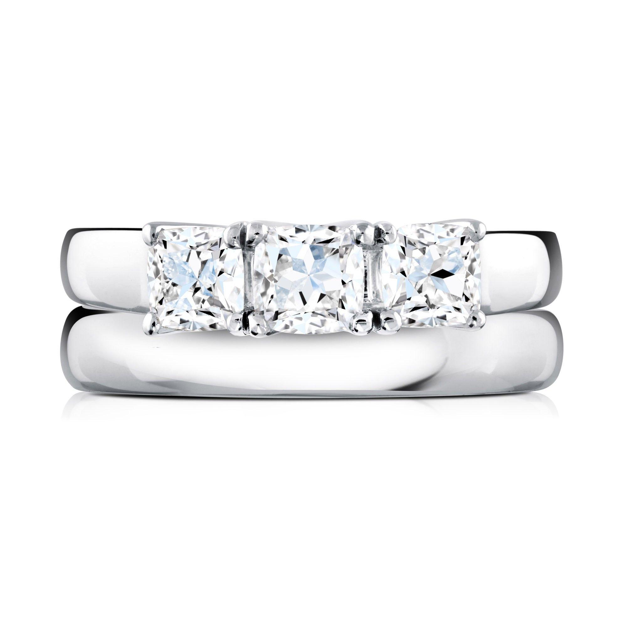 Burks 3 stone diamond ring Canadian diamond engagement