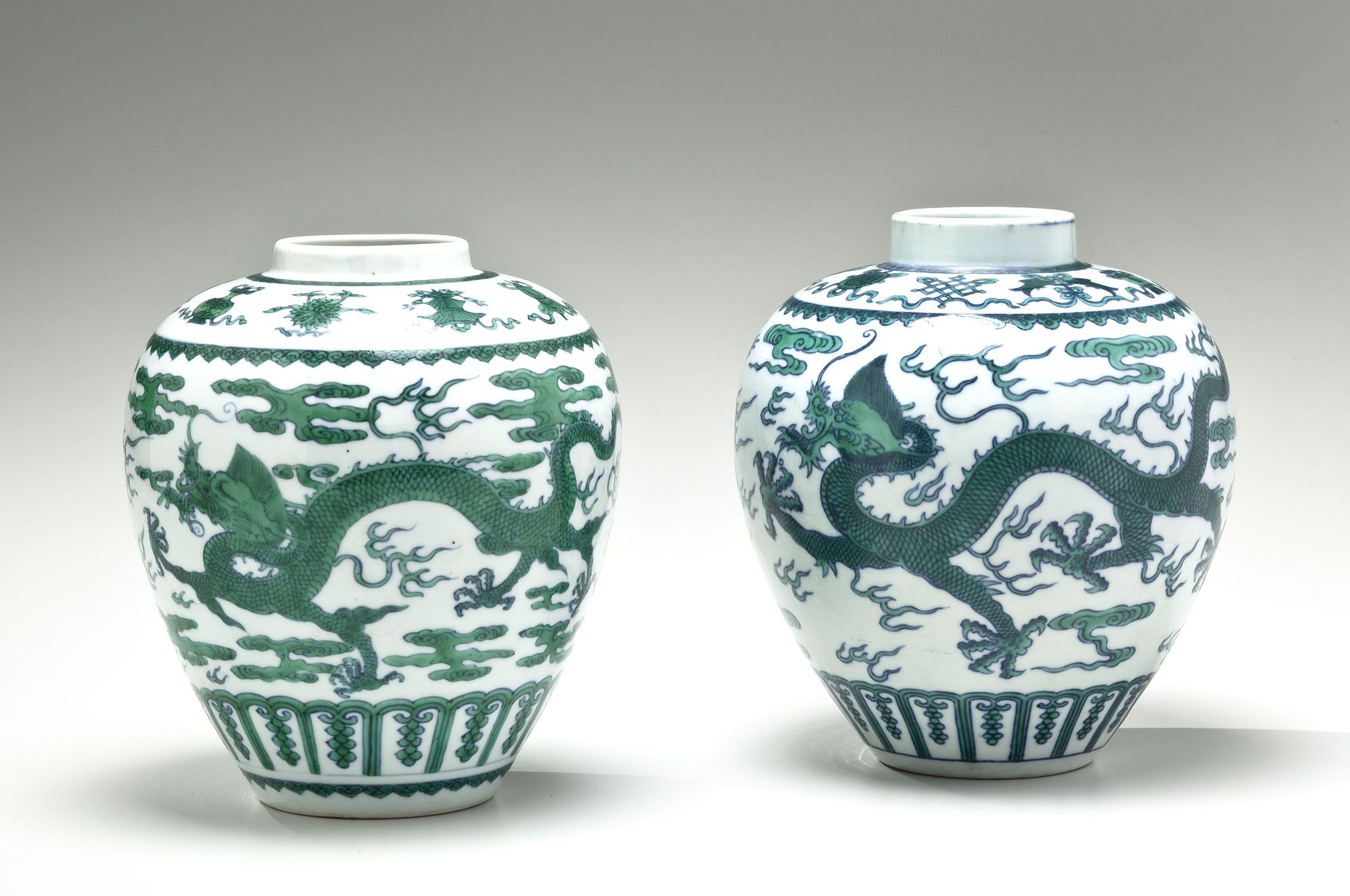 Two green and white dragon vases china 17th century 18th century two green and white dragon vases china 17th century 18th century qing reviewsmspy