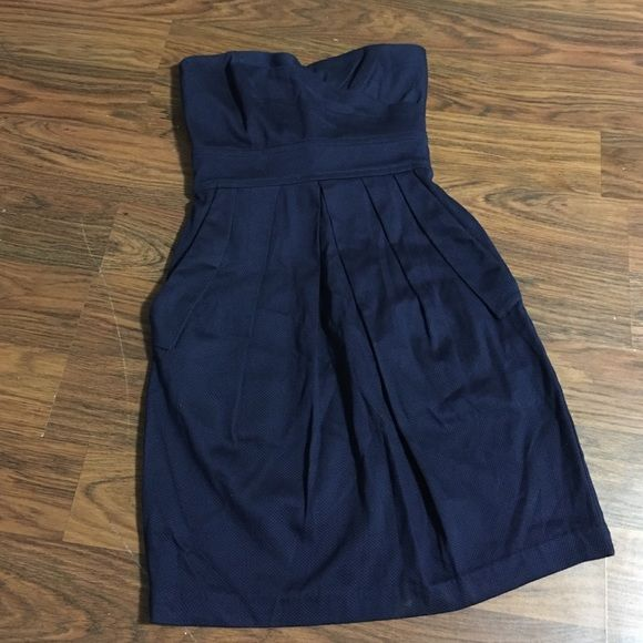TEEZE ME Navy Blue Strapless Party Cocktail Dress Super fun and classy navy blue dress from Tweeze Me. Size 3 Tweeze Me Dresses