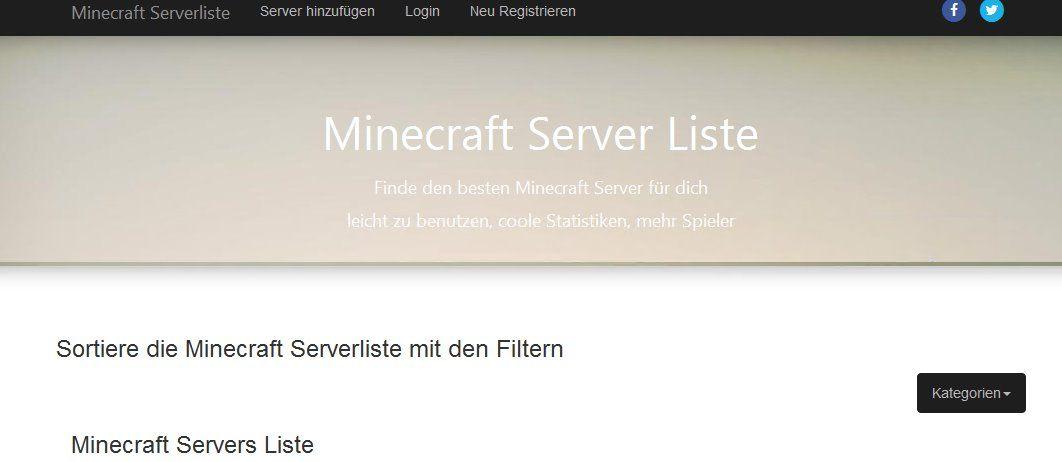 Minecraft Server Liste Trage Deinen Minecraft Server Bei Uns Ein - Minecraft spieler statistik