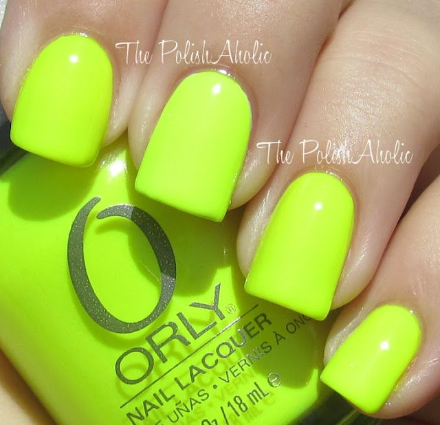 Orly in Glowstick. Bright neon! | Nails | Pinterest | Swatch, Nail ...