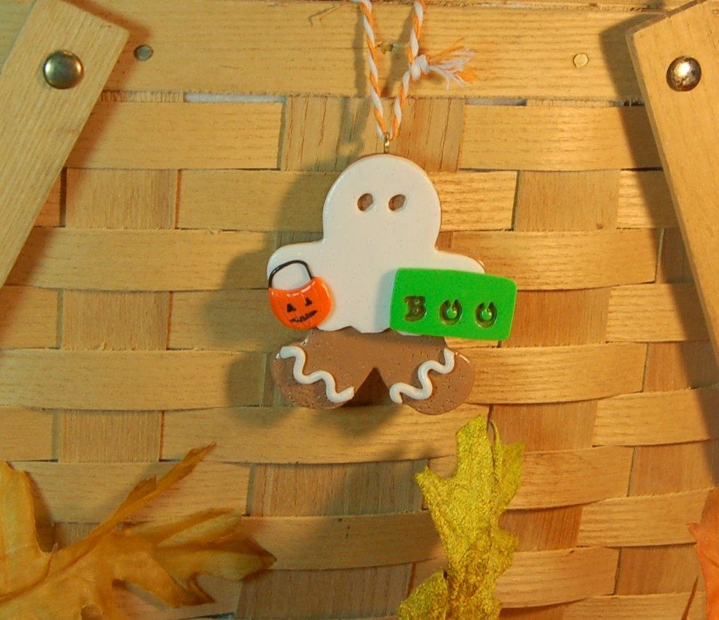 Spooky Ginger Ornament by GingerbreadFaire on Etsy