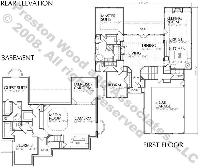 One Story Home Plan C9240 One Story Homes House Plans How To Plan