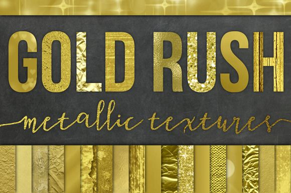 28 Gold Foil Textures / Backgrounds by Studio Denmark