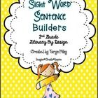 """This packet contains 72 pages of """"Sight Word"""" Sentence Builders!  All of the pages contain sight words that correlate to the 2nd grade """"Literacy By..."""