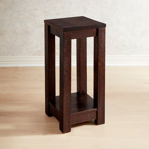 Parsons Tobacco Brown Pedestal Table Table Solid Wood