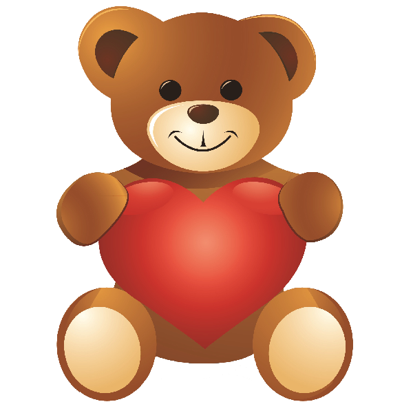 Image result for standing valentine\'s day teddy bear clipart | bear ...