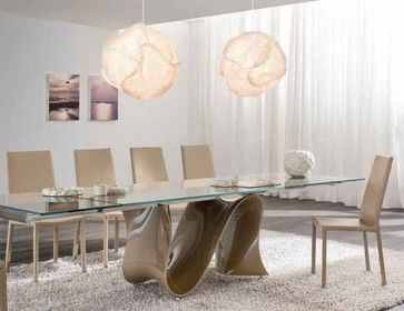 And Now For An Expensive One Wave Glass Extendible Dining Table By Tonin Casa Modern Dining Tables 4852 Luxury