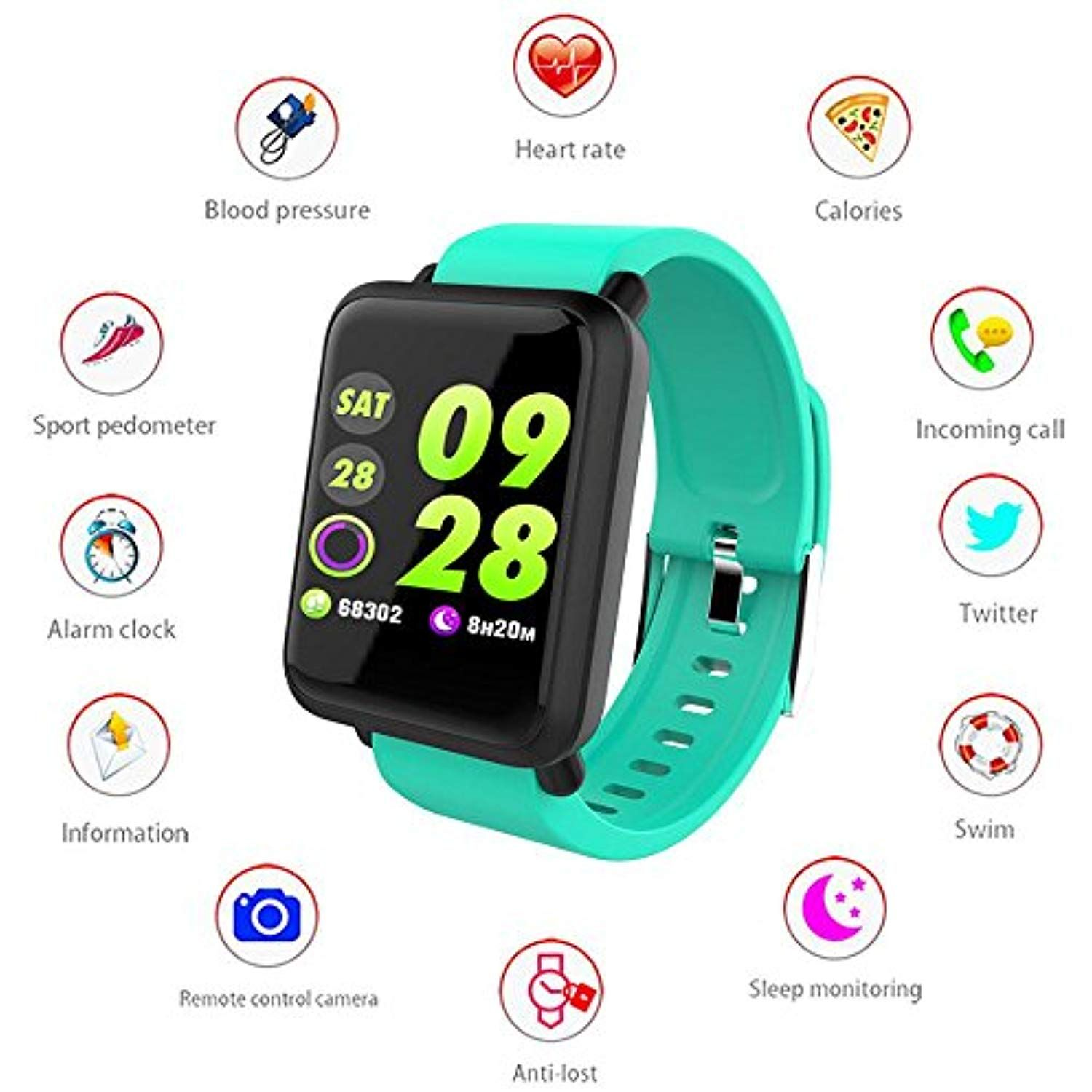 Leegoal Activity Tracker Watch Ip67 Waterproof Fitness Tracker With Heart Rate Monitor For Androi Fitness Watches For Men Waterproof Fitness Tracker Pedometer