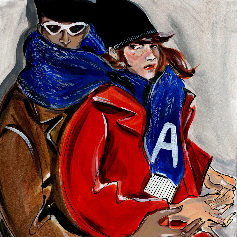 ADERerror Fashion Contemporary Minimalism Couple FW15/16 Adolescence  Cigarette No Smoking Rebellious Muffler
