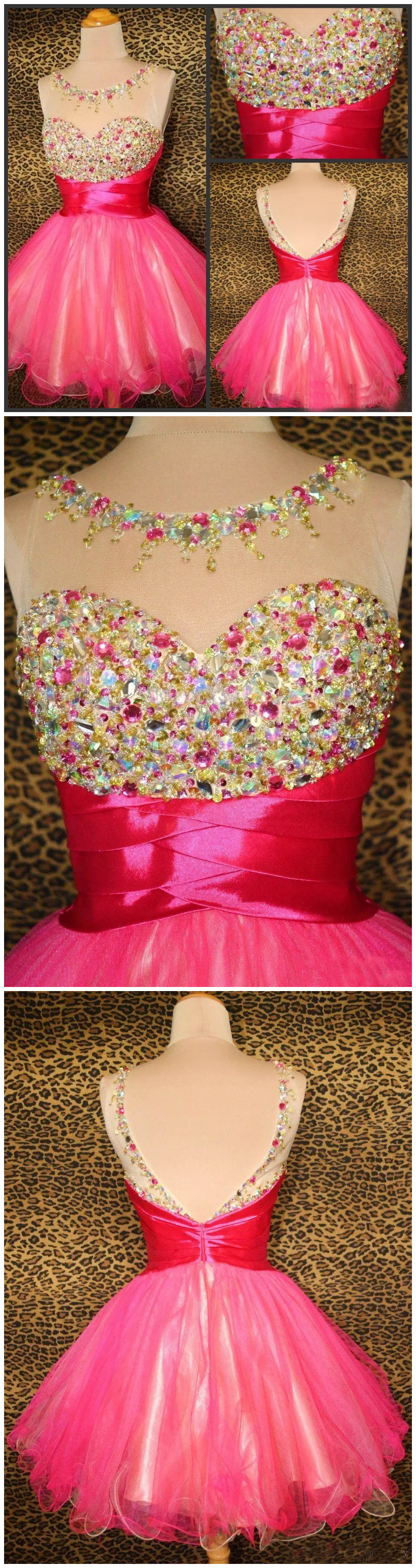 Aline scoop short mini tulle short prom dress homecoming dresses