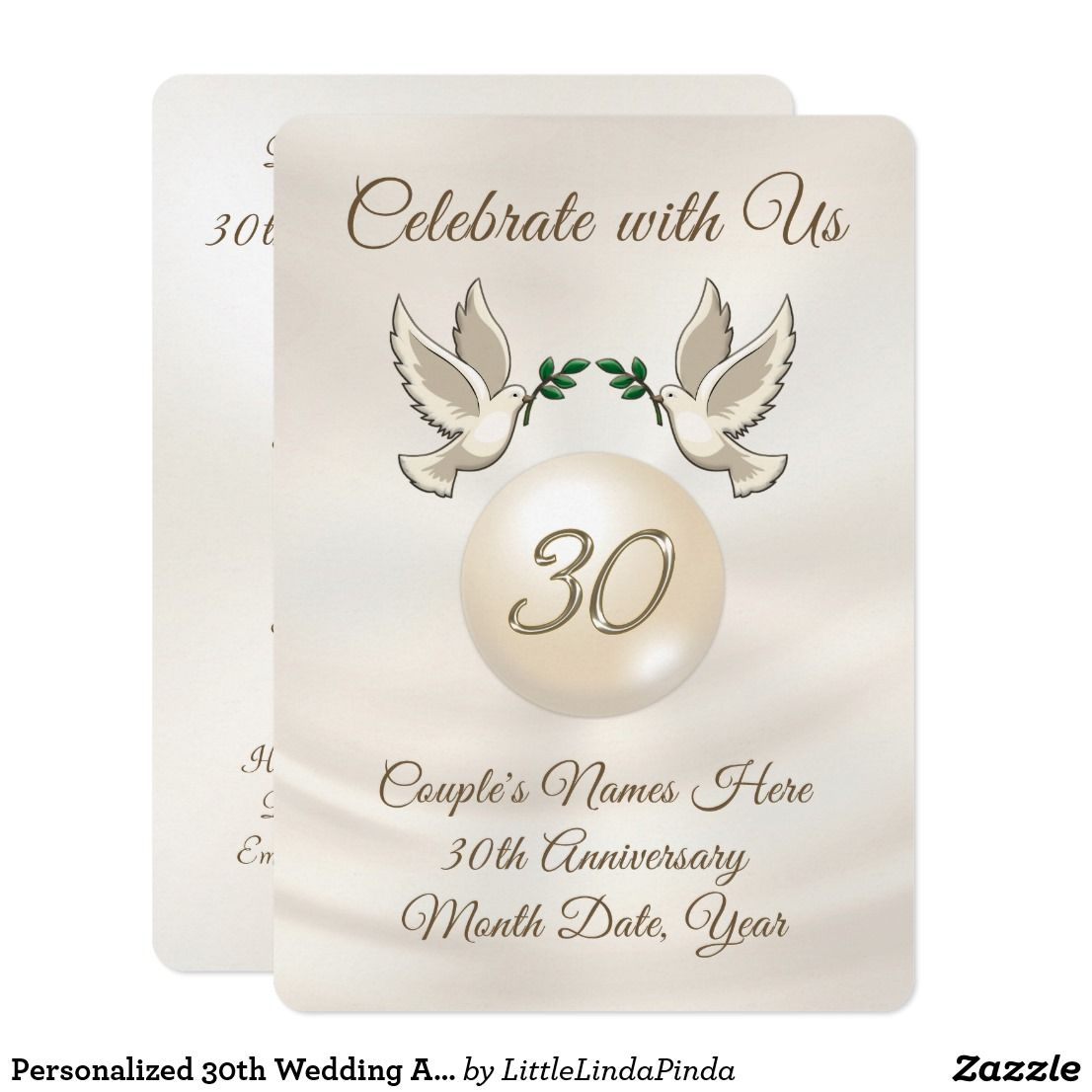 Personalized 30th Wedding Anniversary Invitations 30 Wedding