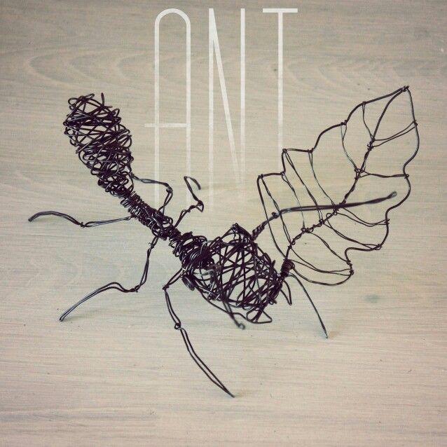 sculpture fil de fer recuit ant sculpture art sketches