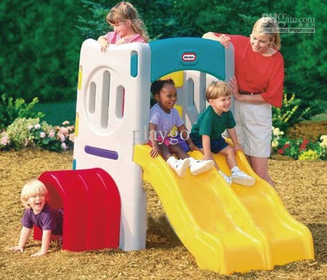 $521.47/set:buy Wholesale Double Slide Climber Playset /baby Slide/ Plastic  Slide