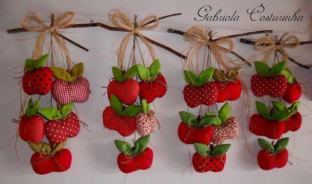 ♥♥ Penduricos de maçãs ♥♥ | Flickr - Photo Sharing!