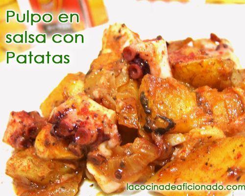 Pulpo en salsa con patatas