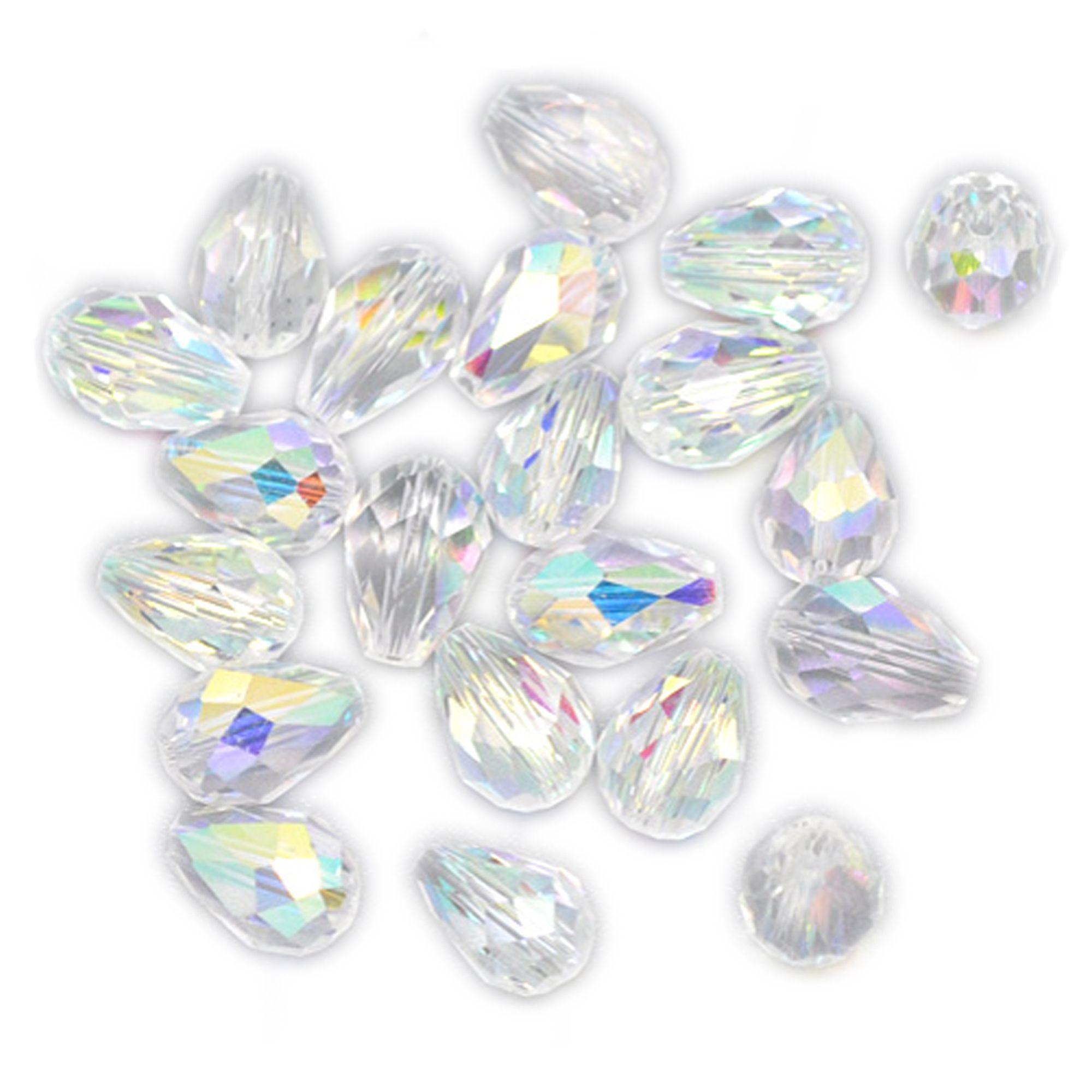 10 AB Tropfen Glasperlen 11x8mm crystal Quartz Perle Glasschliffperlen | Glasperlen | Perlen |  günstig kaufen bei Bacabella.com | Perlen, Schmuck und Schmuckzubehör zum Schmuck selber machen | Schmuck basteln DIY DoItYourself | ganz individuell und einfach | Schmuckperlen