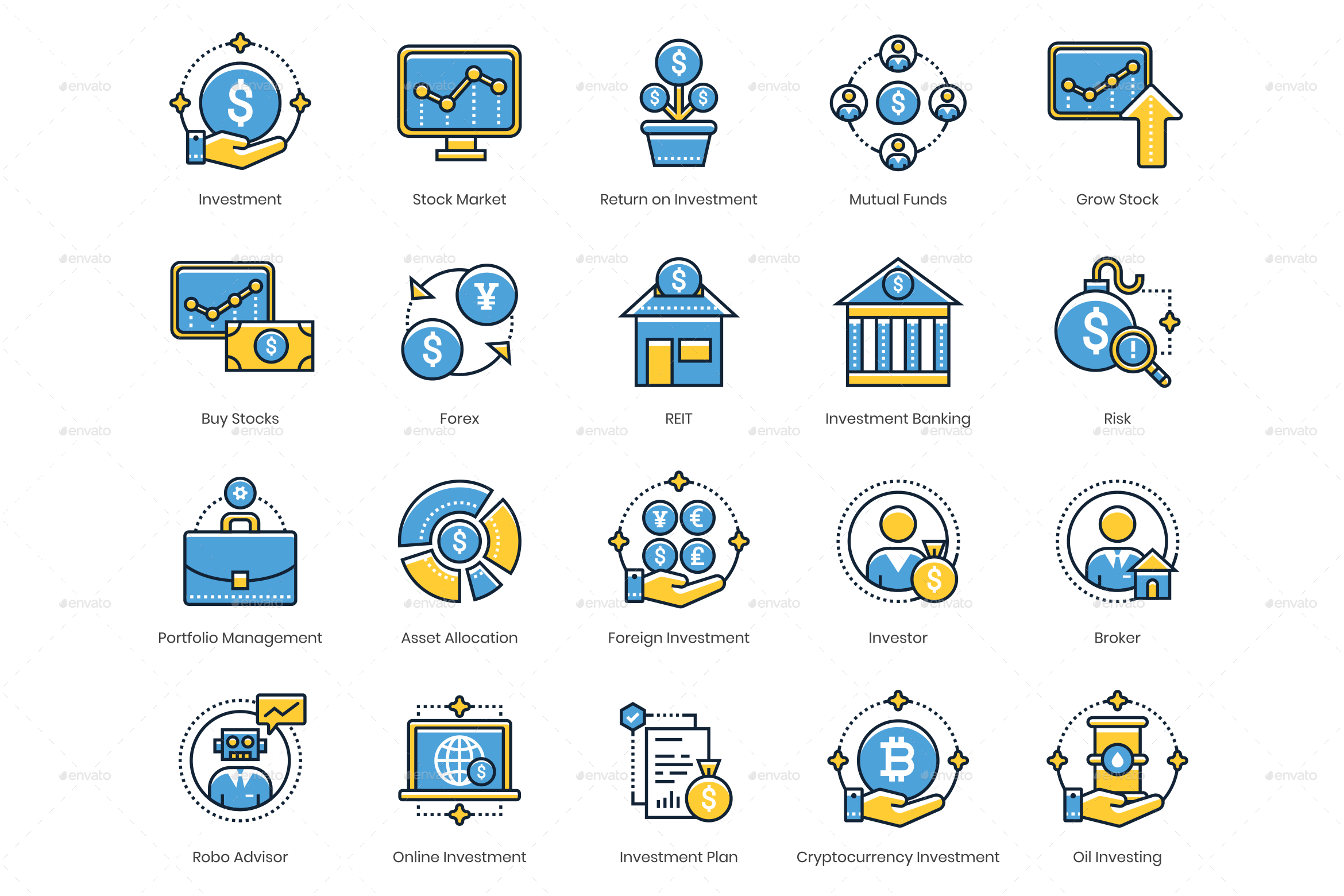 Investing Icons Series Sponsored Icons,