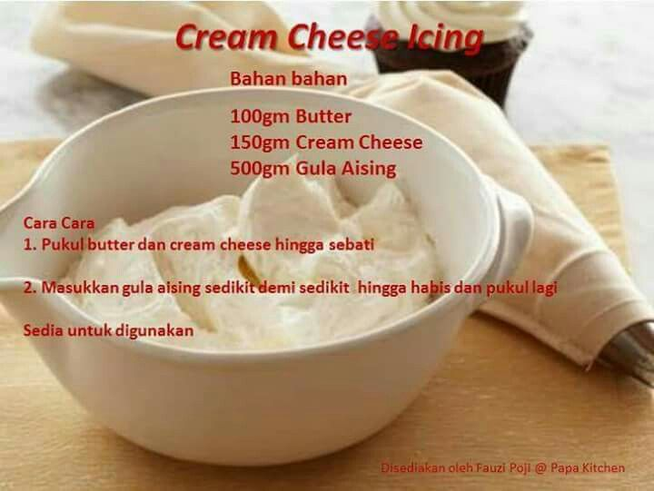 Cream cheese icing | Homemade recipes, Cooking ...