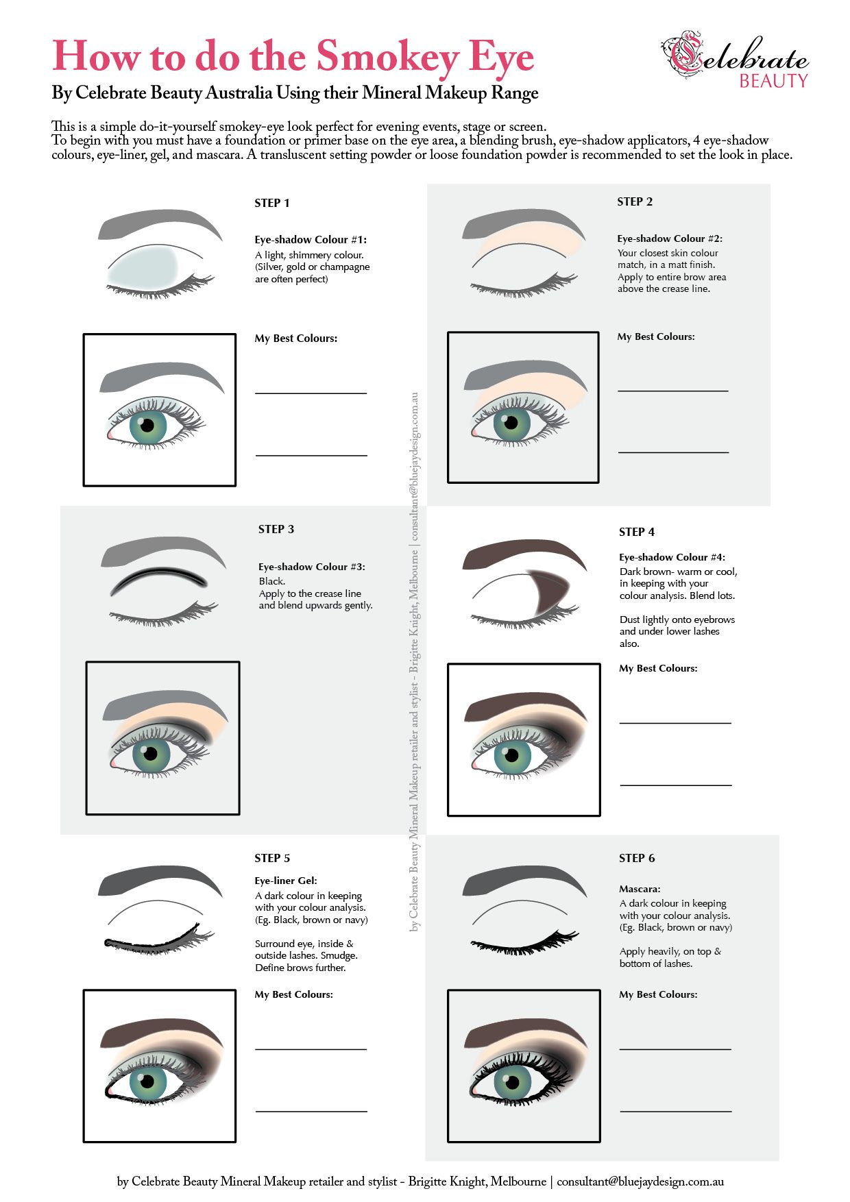 How To Do The Smokey Eye Diagram For Makeup Application Visit My Board For  The Upcoming