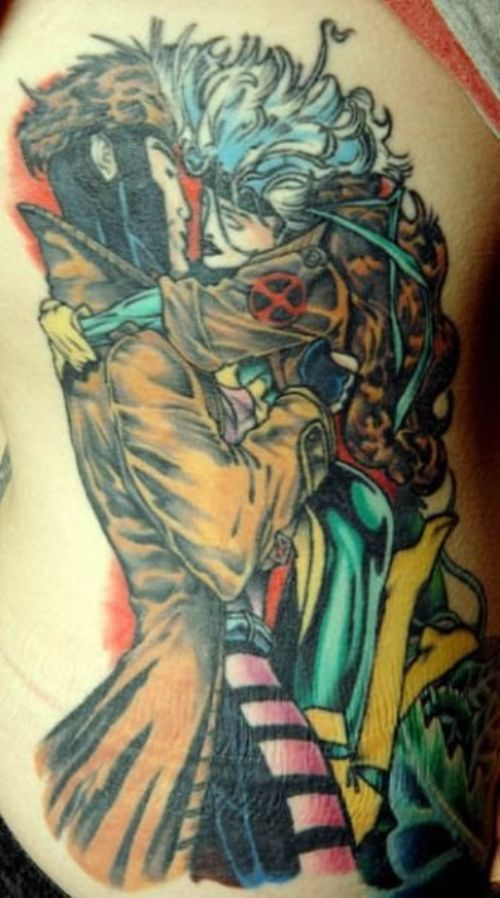 xmen tattoo Gambit and Rogue!