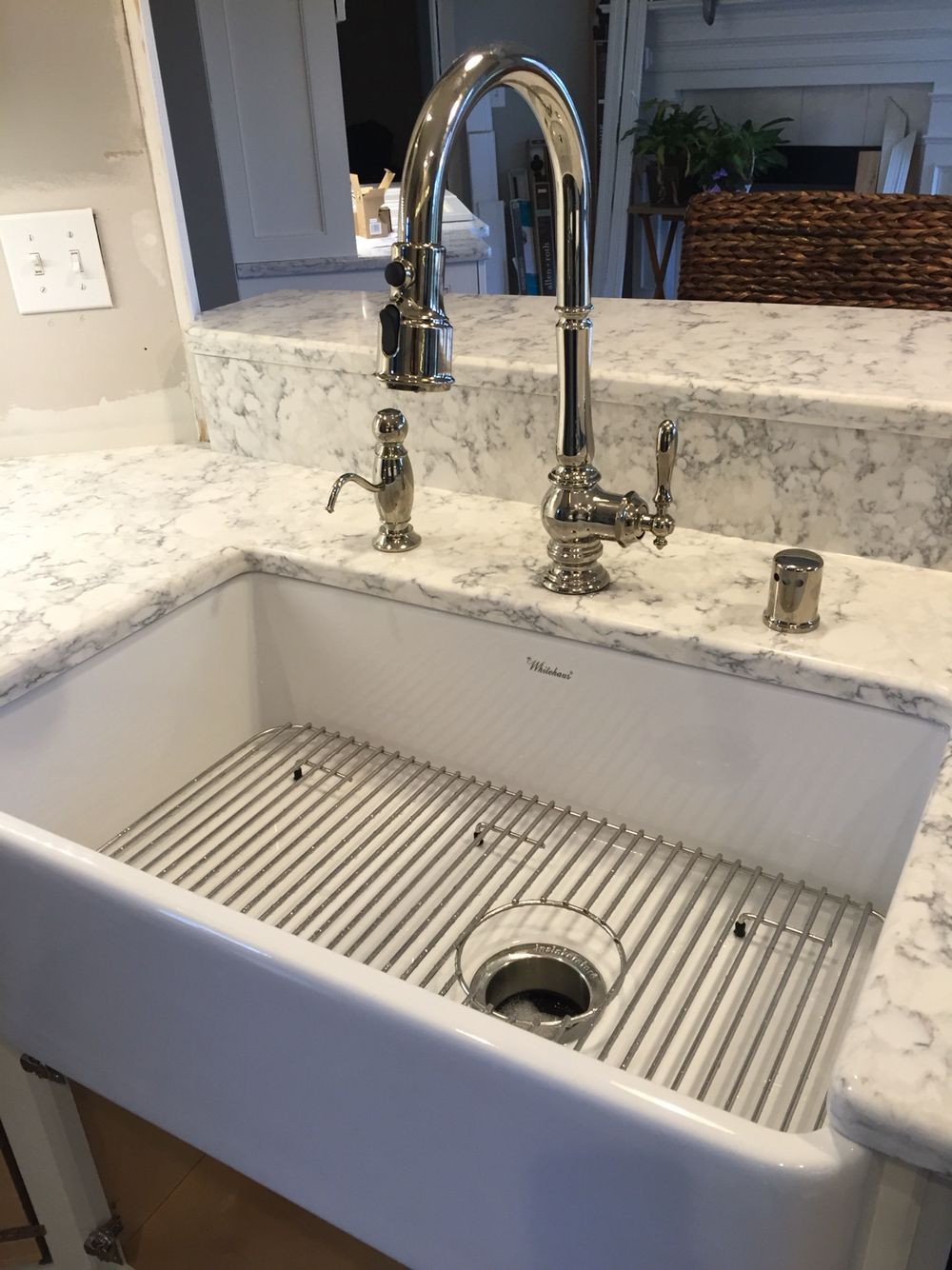 Kitchen Pulls · Kohler Artifacts Faucet W/ Whitehaus Farmhouse Sink