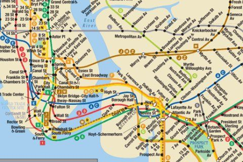 New York Brooklyn Subway Map