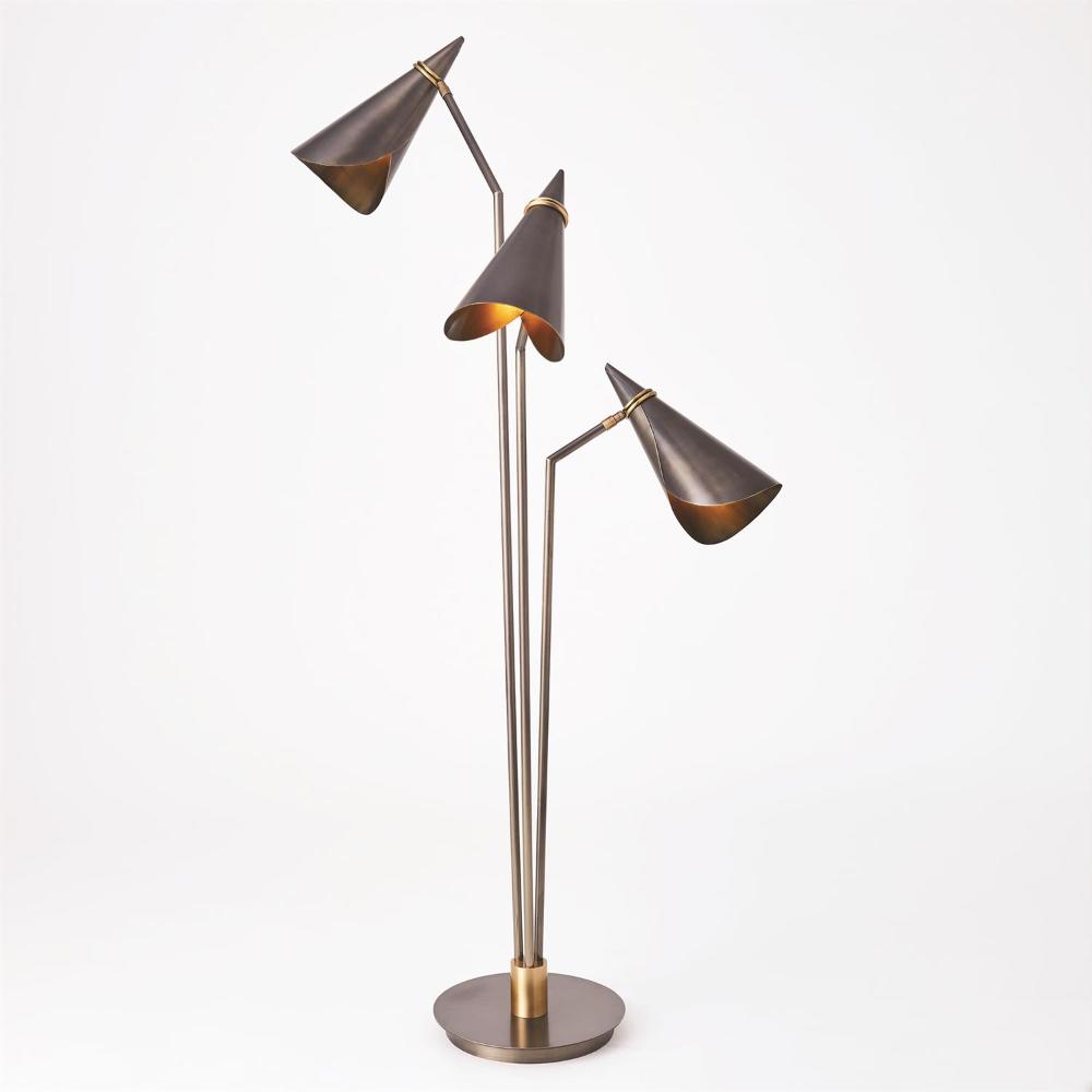 Meudon Multi Arm Floor Lamp In 2020 Floor Lamp Lamp Bronze Lamp