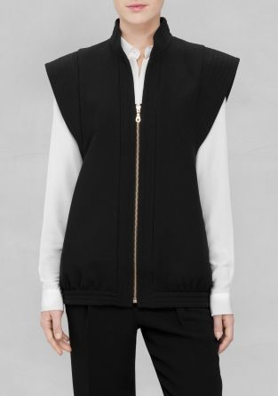 & Other Stories | Quilted Detail Zip Vest