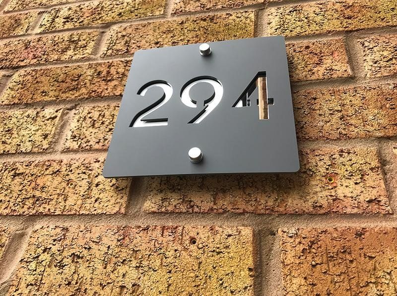Contemporary House Number One Of A Kind Design Uk Contemporary House Numbers Home Signs Contemporary House Contemporary house numbers uk