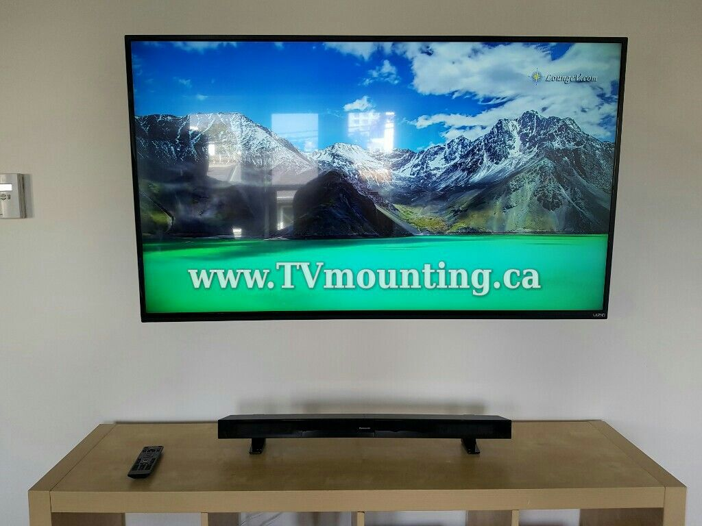55 Inch Hdtv Full Motion Tv Wall Mount Sound Bar In Wall Wiring