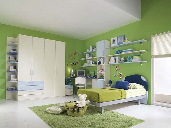 20 Vibrant And Lively Kids Bedroom Designs Home Design Lover Green Kids Rooms Boys Bedroom Green Teenage Room
