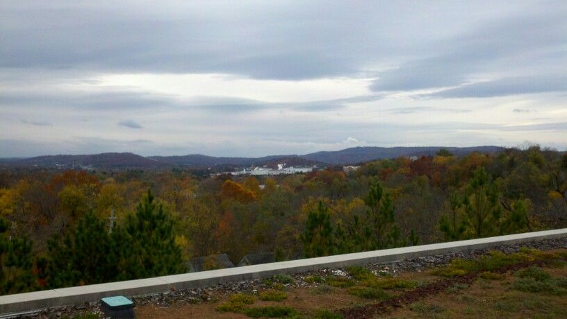View from Fayetteville Arkansas library