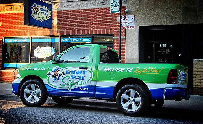 Logo Design And Truck Wrap Design For A Sign Company In