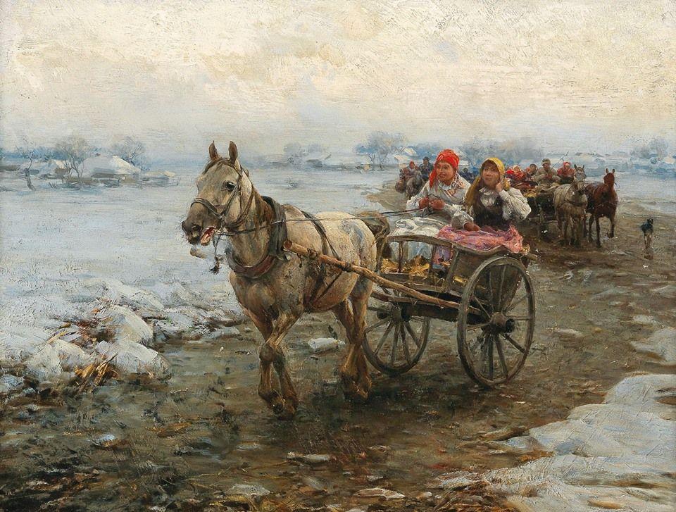 The Coach Journey Alfred Von Wierusz Kowalski 1849 1915