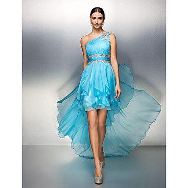 ts+couture®+cocktail+mekko+plus+koon+/+pieni+/+vahvike+yksi+lapa+epäsymmetrinen+sifonki+kristallin+yksityiskohtaisesti+–+EUR+€+88.19