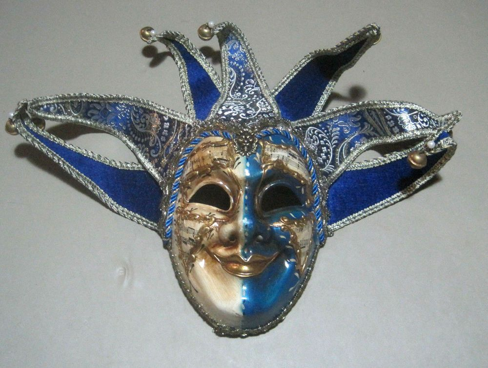 Halloween Carnival Mardi Gras Court Jester Mask Made In Italy Fashion Clothing Shoes Accessories Costumesreenactmenttheater Accessories Ebay Link