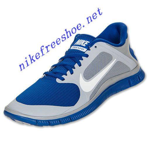 size 40 9ec0d a8a45 Nike Free 4.0 V3 Mens Wolf Grey White Hyper Blue 579958 014