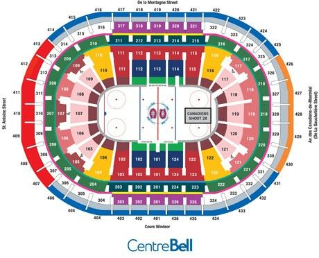 Bell Centre Seating Chart Montreal Canadiens Montreal